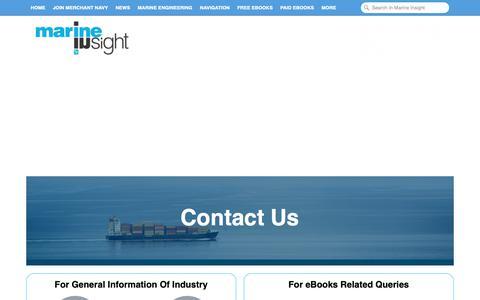 Screenshot of Contact Page marineinsight.com captured Dec. 9, 2018