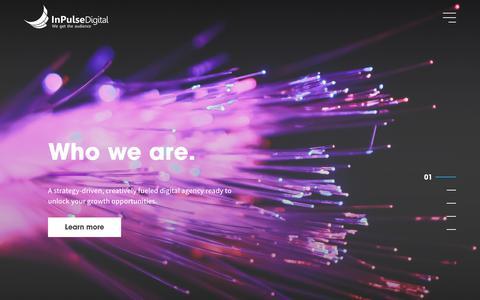 Screenshot of Home Page inpulsedigital.com - InPulse Digital - Strategy-driven, creatively fueled Digital Marketing Agency - captured July 12, 2019