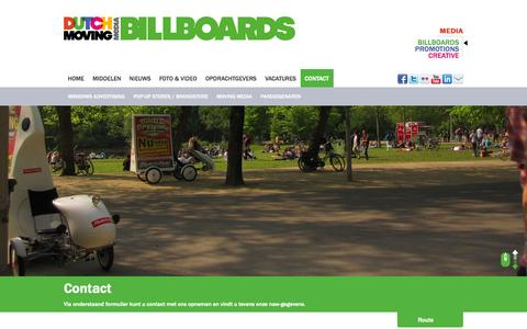 Screenshot of Contact Page dutchmovingbillboards.nl - Contact   Dutch Moving Billboards   mobiele billboards - captured Sept. 30, 2014