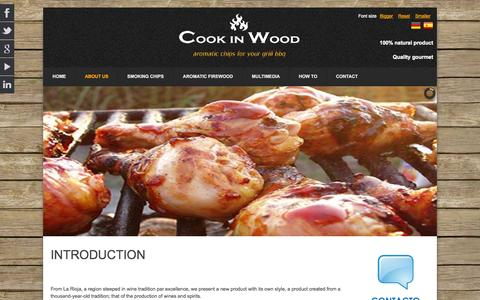 Screenshot of About Page cookinwood.com - Cook in Wood International - WHO WE ARE - captured Sept. 26, 2014