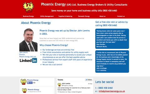 Screenshot of About Page phoenixenergy.co.uk - Property management services - captured Sept. 29, 2014