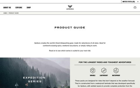 Screenshot of Products Page apidura.com - Product Guide | Apidura - captured Nov. 6, 2018