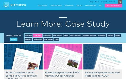 Screenshot of Case Studies Page kitcheck.com - Case Study Archives | Kit Check - captured May 9, 2017