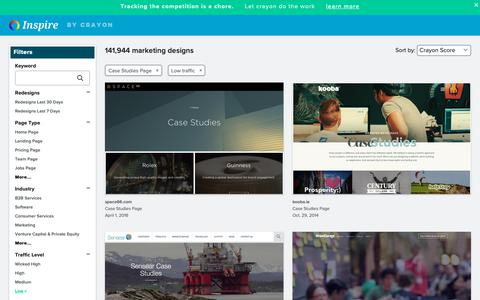 Screenshot of Case Studies Page crayon.co - Low traffic Case Studies Pages | Website Inspiration and Examples | Crayon - captured Dec. 4, 2018