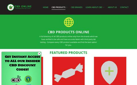 Screenshot of Products Page caliberbio.com - CBD Products Online - Reviewed Brands Only - Caliber Biotherapeutics - captured Dec. 13, 2018