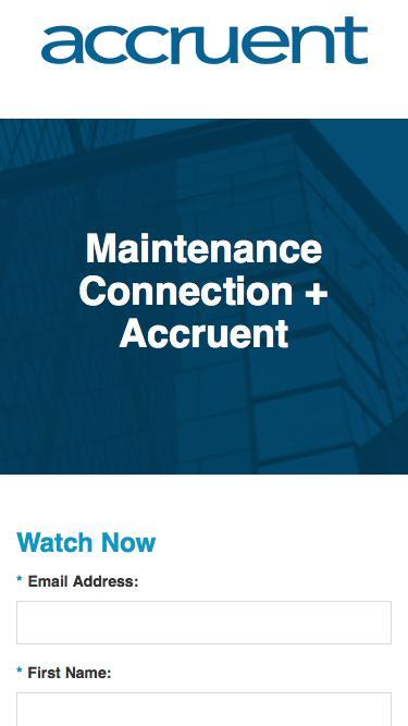 Maintenance Connection + Accruent