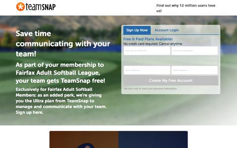 Screenshot of Landing Page teamsnap.com - TeamSnap   Promotion Engine - captured June 21, 2018