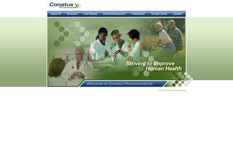 Screenshot of Home Page conatuspharma.com - Conatus Pharmaceuticals - captured Sept. 13, 2014