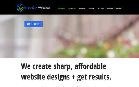 Screenshot of Home Page newskywebsites.com - New Sky Websites | Website Design | Web Maintenance | Milwaukee - captured Oct. 7, 2014