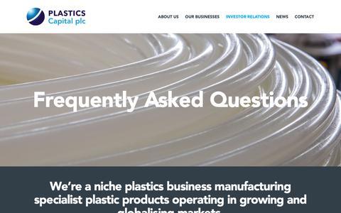 Screenshot of FAQ Page plasticscapital.com - FAQs | Plastics Capital - captured Sept. 28, 2018