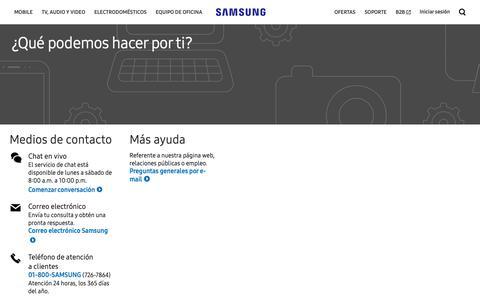 Screenshot of Contact Page samsung.com - Contáctanos   Samsung México - captured Oct. 21, 2018
