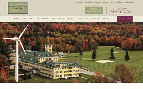 Screenshot of Contact Page mountainviewgrand.com - Contact Us - captured Dec. 22, 2016