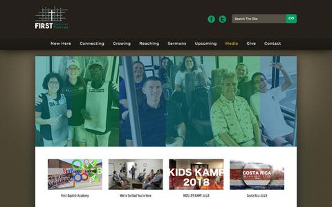 Screenshot of Press Page fbcconroe.org - Media | First Baptist Conroe - captured Oct. 10, 2018