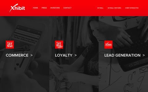 Screenshot of Home Page xhibitcorp.com - XhibitCorp - captured Sept. 30, 2014