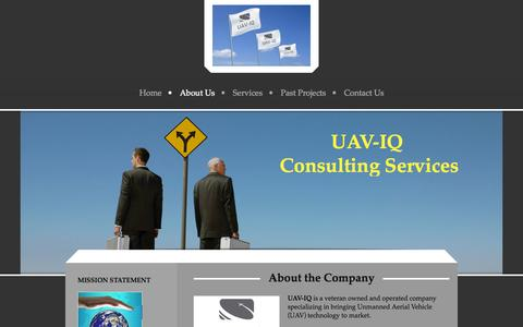 Screenshot of About Page uaviqconsulting.com - - About Us - captured Oct. 29, 2014