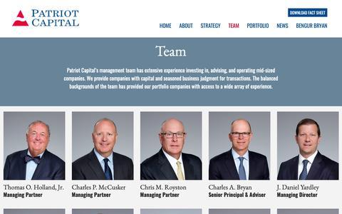 Screenshot of Team Page patriot-capital.com - Team – Patriot Capital - captured Nov. 4, 2018