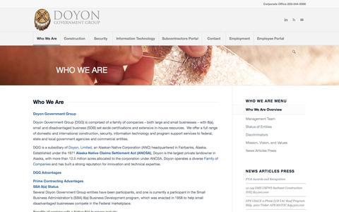 Screenshot of About Page doyongovgrp.com - Doyon Government Group Who We Are | Doyon Government Group - captured Nov. 5, 2016