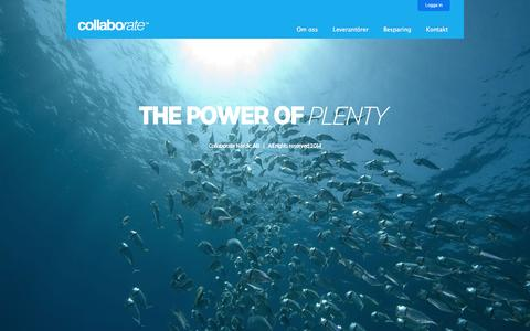 Screenshot of Home Page collaborate.nu - Collaborate - captured Oct. 10, 2014