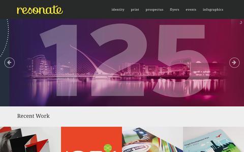 Screenshot of Home Page resonate.ie - Resonate   Dublin Design Agency   - captured Feb. 25, 2016