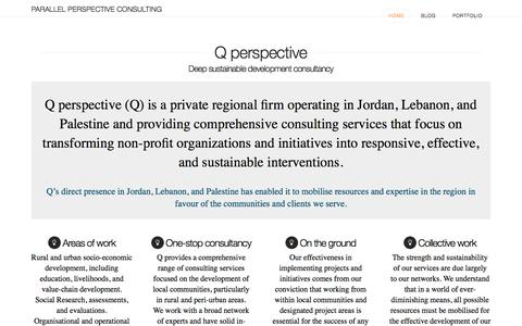 Screenshot of Home Page qperspective.com - Parallel Perspective Consulting | Deep Development Consultancy - captured July 14, 2018