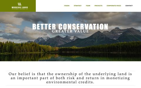 Screenshot of Home Page Team Page working-lands.com - Working Lands Investment Partners - captured Oct. 9, 2014