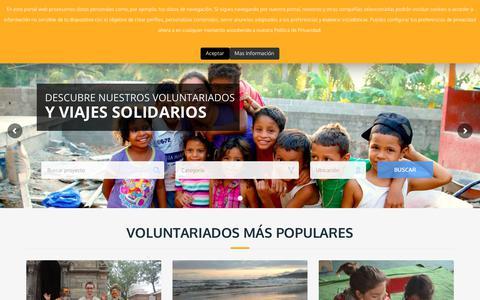 Screenshot of Home Page cooperatour.org - Voluntariado internacional y viajes solidarios con Cooperatour - captured Sept. 30, 2018