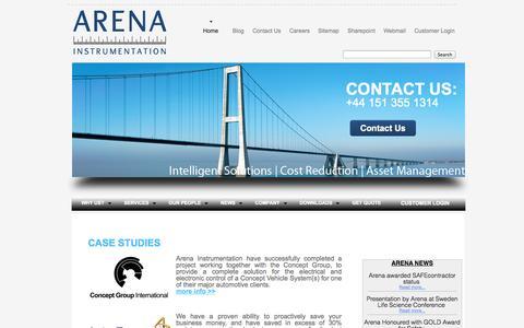 Screenshot of Case Studies Page arena-instrumentation.com - Arena Instrumentation   CASE STUDY   What our customers say about Arena Instrumentation - captured Oct. 4, 2014