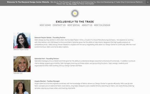 Screenshot of Team Page squarespace.com - Meet Our Team — MARYLAND DESIGN CENTER - captured Nov. 1, 2014