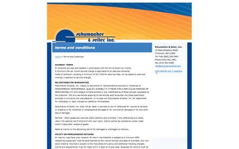 Screenshot of Terms Page schumacherseiler.com - Schumacher & Seiler - captured Oct. 1, 2014