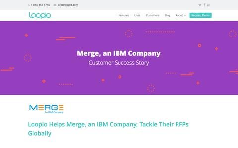 Screenshot of Case Studies Page iwdclient.com - Merge Case Study | Loopio RFP Software - captured Nov. 13, 2016