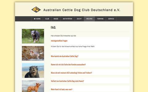 Screenshot of FAQ Page acdcd.de - F.A.Q. - captured June 11, 2016