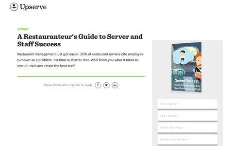 Screenshot of Landing Page upserve.com - The Only Guide To Staff Management You Need | Upserve - captured Aug. 31, 2017