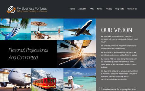 Screenshot of About Page flybusinessforless.com - About Us | Fly Business for Less – Fly Business for Less - captured June 6, 2017