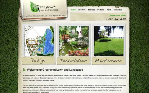 Screenshot of Home Page greenprintlawncare.com - Fort Myers Lawn Care | Greenprint Lawn & Landscape - captured Oct. 3, 2014