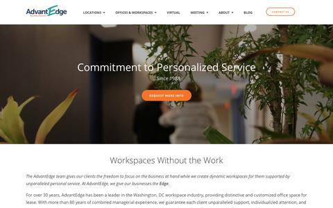 About ‐ DC Area Office Space   AdvantEdge