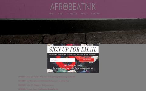 Screenshot of Press Page afrobeatnikshop.com - Press — Afrobeatnik - captured Feb. 5, 2016
