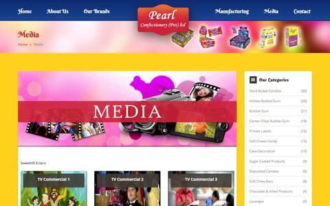Screenshot of Press Page pearlfoodind.com - Pearl Confectionery (Pvt) Ltd-Media - captured Jan. 26, 2016