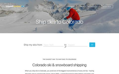 Ship Skis to Colorado - Aspen, Vail, Beaver Creek, Steamboat and more