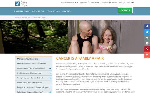 Living with Cancer at City of Hope | Los Angeles | Southern California
