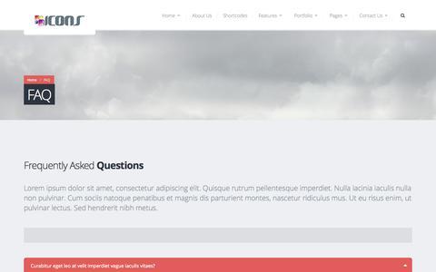 Screenshot of FAQ Page iconsengineering.com - FAQ   Icons Engineering - captured Oct. 3, 2014