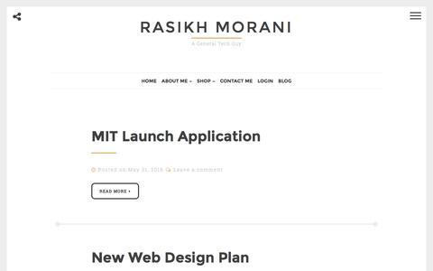 Rasikh Morani – A General Tech Guy