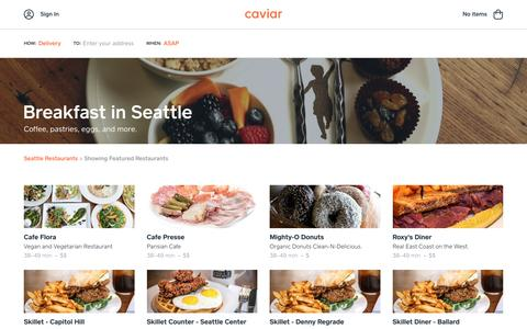Breakfast in Seattle | Caviar
