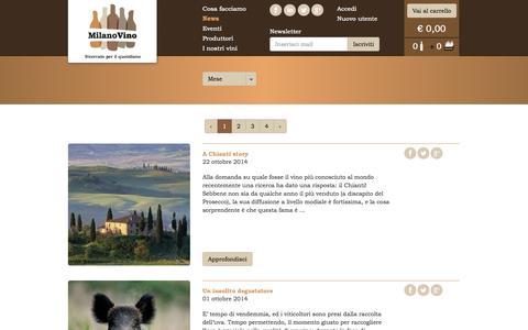 Screenshot of Press Page milanovino.it - MilanoVino - News - captured Oct. 27, 2014