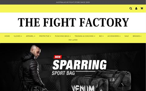 Screenshot of Home Page thefightfactory.com.au - The Fight Factory - Shop MMA, BJJ, Muay Thai, Boxing Gear & Equipment - captured Nov. 7, 2017