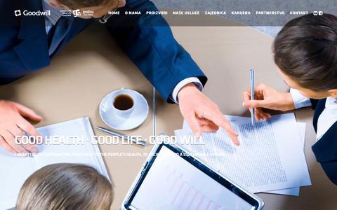 Screenshot of Services Page goodwillpharma.rs - Naše usluge - captured Sept. 29, 2018