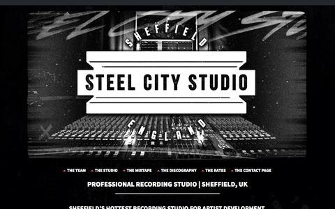 Screenshot of Home Page steelcitystudio.co.uk - Steel City Studio | Modern Recording Studio | Sheffield, UK - captured Oct. 7, 2014