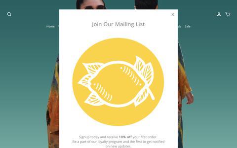 Screenshot of Home Page citronclothing.com - Citron Clothing  – CITRON CLOTHING - captured Sept. 28, 2018