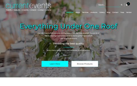 Screenshot of Home Page eventslv.com - Party Rentals Las Vegas, Wedding Event Table & Chair Rental Las Vegas - captured Nov. 11, 2018