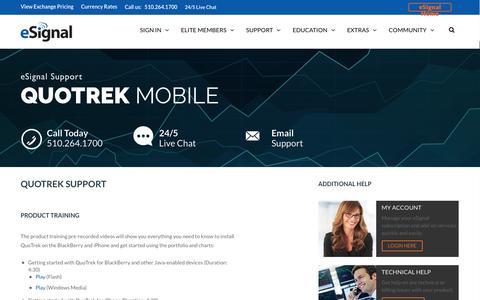 Screenshot of Trial Page esignal.com - QuoTrek | eSignal:Stock Charting Software, Best Day Trading Platform - captured Nov. 11, 2016