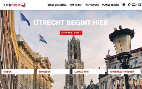 Screenshot of Home Page bezoek-utrecht.nl - Home | Bezoek Utrecht - captured Nov. 16, 2016